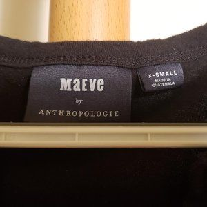 Anthropologie Tops - Anthropologie (Maeve) Black Ruffled Top (Size XS)